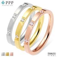 ステンレス リング (28)CZ 選択可 金色 銀色 ピンクゴールド  07号 09号 10号 11号 12号 13号 15号 16号 18号 19号 メイン サージカル 316L 指輪