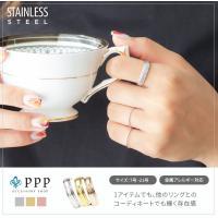 ステンレス リング(57) ローマ数字 選択可 銀色 金色 ピンクゴールド メイン メンズ レディース ナンバー シンプル|0001pppcom|02