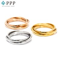 ステンレス リング(59) 3連の指輪 選択可 銀色 金色 ピンクゴールド メイン メンズ レディース 大人 おしゃれ シンプル|0001pppcom|11