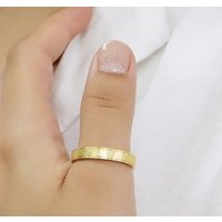 ステンレス リング(76)ざらつき加工 金色 メイン  サージカルステンレス製 指輪 316L メンズ レディース 送料無料 アクセサリー ゴールド|0001pppcom|10