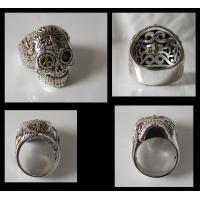 (GV)シュガースカルリング(3) メイン シルバー925 銀製スカル ドクロ 指輪|0001pppcom|04