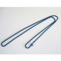(ステンレス)ベネチアンチェーン青色2mm選択可45cm 50cm 60cm シルバー925製ネックレス メイン 0001pppcom 02