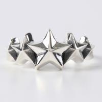 スターリング(4)5号 6号 7号 8号 9号15〜 (メイン)スター 星 星 指輪 リング シルバー925製 銀|0001pppcom|03