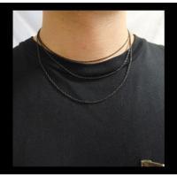 ステンレス デザインチェーン(15)黒色選択可40cm 45cm 50cm 55cm 60cm メイン サージカルステンレス316Lチェーン 金属アレルギー対応 アクセサリー|0001pppcom|06