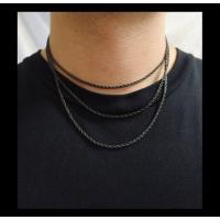 ステンレス デザインチェーン(16)黒色選択可40cm 45cm 50cm 55cm 60cm メイン サージカルステンレス316Lチェーン 金属アレルギー対応|0001pppcom|05
