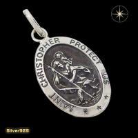 セントクリストファーのプレートペンダント(1) メイン シルバー925 銀 ペンダント 神話 メダイ ネックレス|0001pppcom