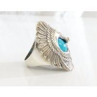 (GV)イーグルとターコイズの指輪(1) 羽根 鳥 動物 リング メイン|0001pppcom|03