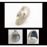 (GV)イーグルとターコイズの指輪(1) 羽根 鳥 動物 リング メイン|0001pppcom|04