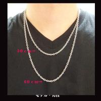 ステンレス 長あずきチェーン3.5mm選択可50cm 60cm メイン 0001pppcom 05