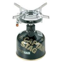 キャプテンスタッグ M-7900 オーリック 小型ガスバーナーコンロ〈圧電点火装置付〉(ケース付)