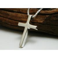 送料・代引手数料0円   小さいけど、、、かっこいい  とてもきれいに仕上げたクロスネックレスです!...