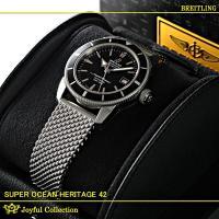 ブライトリング スーパーオーシャンヘリテージ42 A170B61OCA 新品。 ブラックリング/ボル...