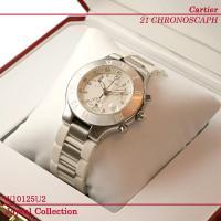 カルティエ 腕時計 マスト21 ヴァンティアン クロノスカフ W10184U2 新品。 ホワイトダイ...
