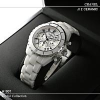 シャネル/時計/メンズ/J12 クロノグラフ ホワイトセラミック H1007 新品。