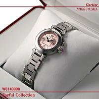 カルティエ 時計 ミス パシャ W3140008 新品未使用。 スティール レディース ピンクダイア...