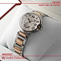 カルティエ(時計) バロン ブルー 2タイムゾーン W6920027 新品。 コンビ クォーツ シル...