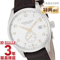 ハミルトンの「H42515555」 ステンレス素材の丸型ケースとカーフ素材のベルト。文字盤には12時...