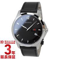 [3年保証]腕時計グッチ GUCCI YA126304 メンズ グッチ 商品詳細・ブラック・黒(文字...