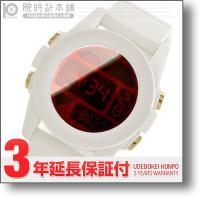 ・レッド・赤(文字盤カラー)/液晶(文字盤カラー)・ホワイト(ベルトカラー)・ポリカーボネート(ケー...