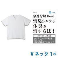 消臭シャツ デオルVネックTシャツ 体臭対策 加齢臭対策 わきが対策