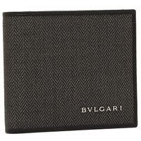 BVLGARI ブルガリ 32581 WEEKEND ウィークエンド 2つ折財布 BLACK ブラッ...