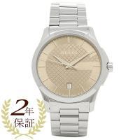 グッチ 時計 GUCCI YA126445 Gタイムレス メンズ腕時計 ウォッチ シルバー/ブラウン...