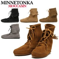 『MINNETONKA ミネトンカ』から、アンクル丈の編み上げショートブーツが入荷☆上質で柔らかいス...