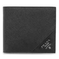 プラダ 二つ折り財布 2MO738 QME F0002/SAFFIANO METAL NERO/GM