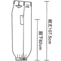 寅壱社製 INFINITY MAX 作業着 2309-414 ロングニッカ 綿100% 「70cm-85cm」(鳶衣料 年間)|1up|02