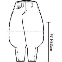 寅壱 作業服 作業着 4441-410 超ロング八分 綿100% 「70cm-85cm」(鳶衣料 年間) 1up 02