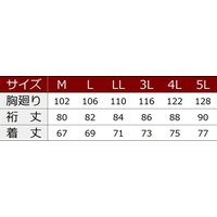 寅壱 作業服 作業着 5959-614 赤耳長袖ポロシャツ 「M-LL」(春夏用)|1up|03