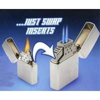 ZIPPOライターのインサイドケースを入れ替えるだけで、「ZIPPOツインターボ電子ガスライター」に...