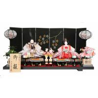 雛人形 ひな人形 千匠 平飾り 親王飾り モダンな印象の屏風は一か所だけ違う質感で仕立てられており、...