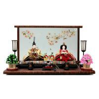 雛人形 ひな人形 千匠 平飾り 親王飾り 高級品として定評のある桜木の風合いを丁寧に施した樺細工が、...