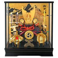 五月人形 兜飾り ケース飾り 富岳 山水バック h285-fncp-165-712-NA16