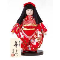 【2018年度新作雛人形】【おすすめ人気工房】 切り揃えられた黒髪が美しい極上本頭の市松人形です。 ...