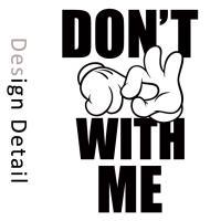 Tシャツ 半袖 2018新作 ユニセックス レディース メンズ プリントTシャツ [DON'T FUCK WITH ME スラング Mickey hands DOPE Funny カワイイ おしゃれ]