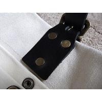 【REAL MIND】【Lサイズ】【白】 リアルマインド 日本製 パルケ ブランコ 帆布&スペインレザートートバッグ   レディース  革 &帆布
