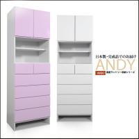 ランドリー収納 ANDY アンディ W60 サイズ:幅60×奥行39×高さ180.5cm 材質:MD...