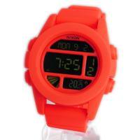 ■商品名 NIXON ニクソン メンズ腕時計 THE UNIT ユニット ネオンオレンジ デジタルウ...