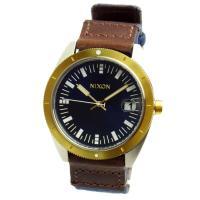 ■NIXON ニクソン 腕時計 メンズ THE ROVER ネイビー/ブラウン/ゴールド A3551...