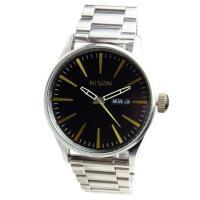 ■商品名 NIXON ニクソン 腕時計 メンズ SENTRY セントリー ブラック/ブラス 男性用 ...