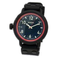■商品名 NIXON ニクソン メンズ腕時計 OCTOBER オクトーバー ブラック/レッド A48...