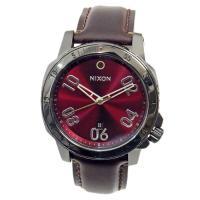 ■商品名 NIXON ニクソン 腕時計 メンズ RANGER LEATHER レンジャーレザー ガン...