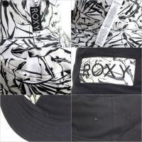 ハット レディース ROXY MONOLOGUE - RHT171321 ロキシー バケットハット リバーシブル ボタニカル 柄 ブラック ホワイト サーフ 紫外線対策 帽子 17 2017 春 夏