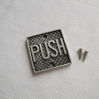 ピューター製ドア インジケーターPUSH ドアプレート