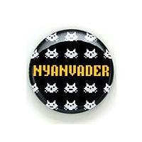 缶バッチ 猫 NYANVADER ネコ ねこ 猫柄 雑貨 SCOPY スコーピー  直径31mmの缶...