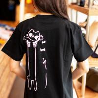 Tシャツ メンズ レディース 半袖 猫 LOVE CAT - ブラック おもしろ ネコ ねこ 猫柄 ...