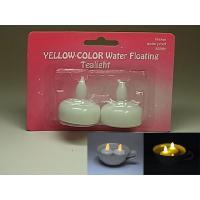水に浮かべると本物のキャンドルみたいに光る、フローティング LED ティーライトのシングルカラー 2...