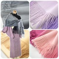 着物に最適なグラデーションが美しいカシミヤ大判ショールです。 カシミヤ100%の大判ショールに美しい...